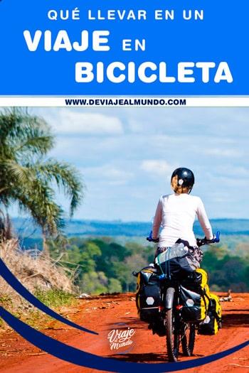 Qué llevar en un viaje en bicicleta. Cicloturismo o cicloviajeros.