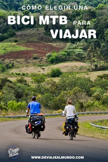 Cómo elegir una bici mtb oara viajar. Consejos cicloturismo y cicloviajeros.