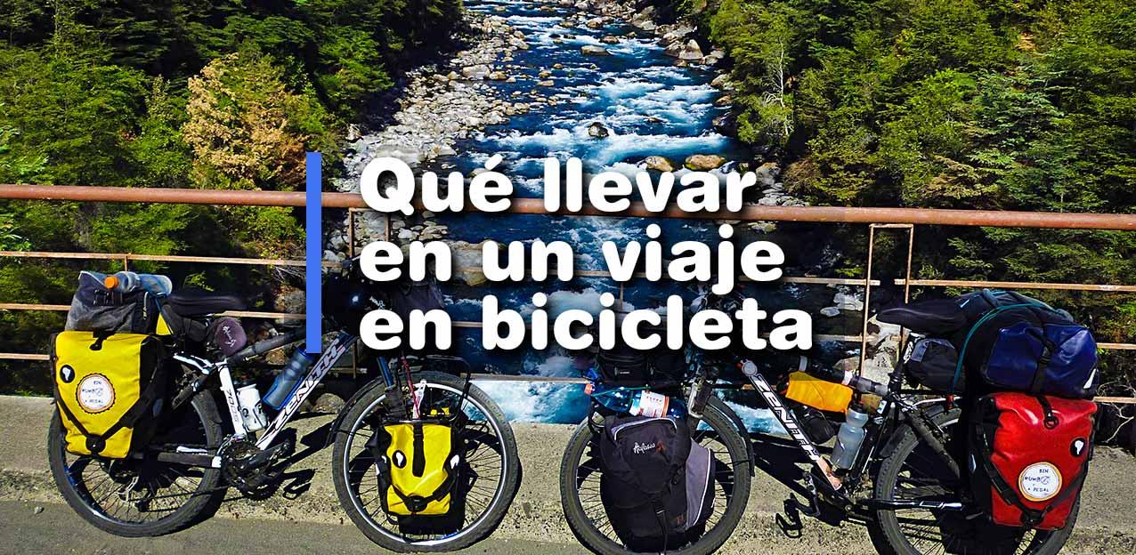 ¿Qué llevar en un viaje en bicicleta? Actualizada 2020