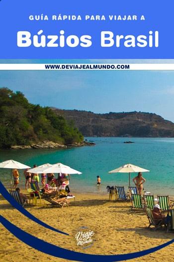 Guía rápida para viajar a las playas de Búzios, Brasil.