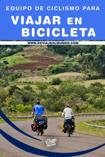Equipaje para viajar en bicicleta. Cicloturismo
