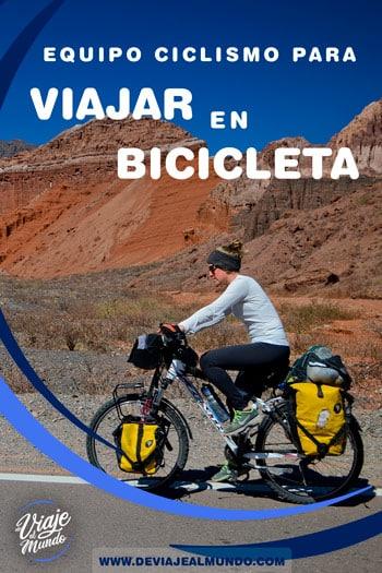 Equipo de ciclismo para viajar en bicicleta. Tienda online cicloturismo